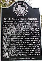 Williams Creek School House Marker