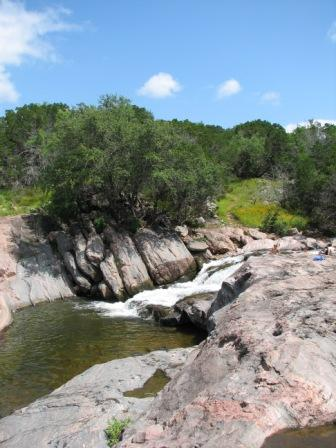 Devil's Waterhole at Inks Lake, photo by K Dry