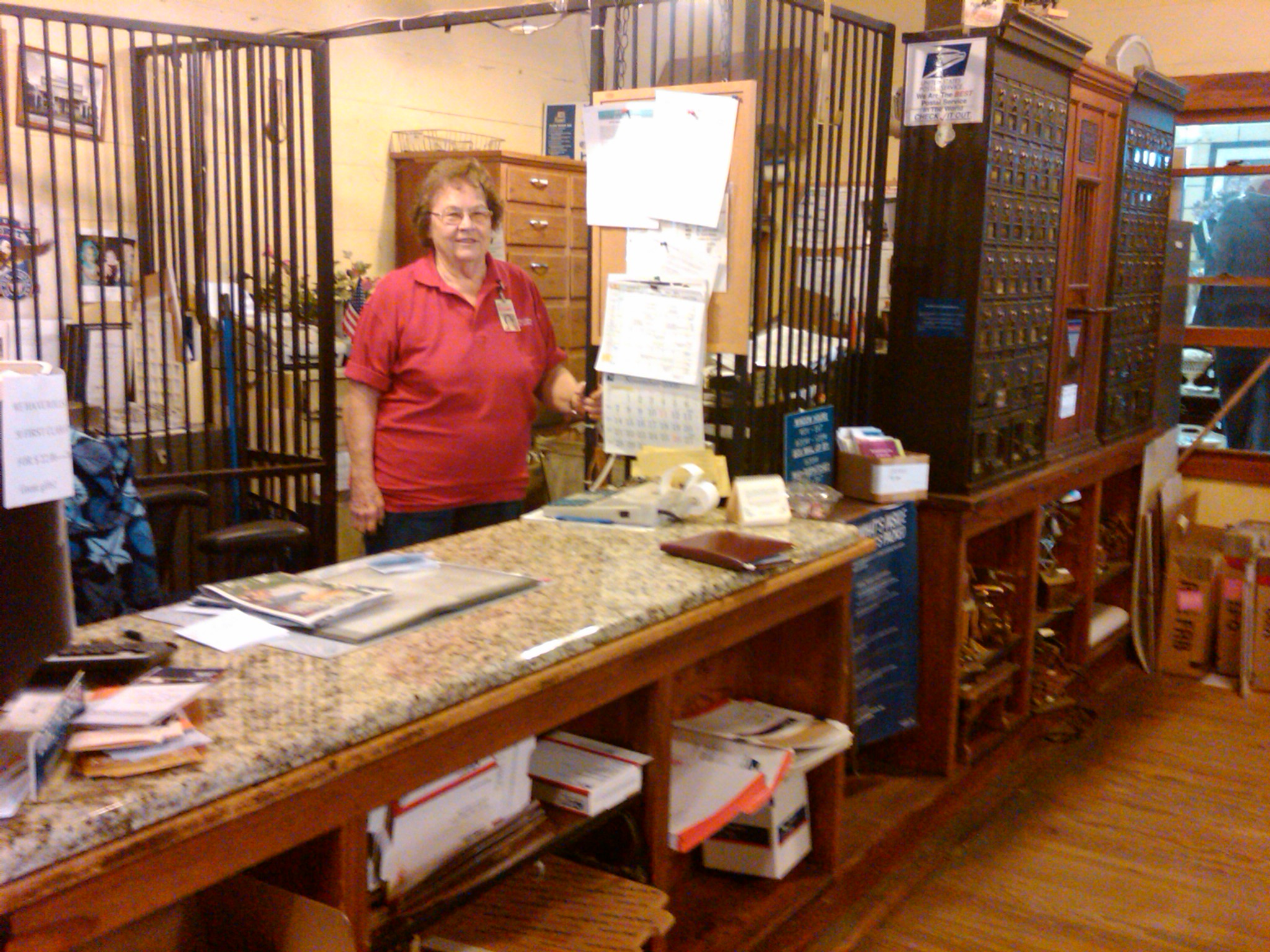 Dorothy Beyer, past Postmaster: 'Not much has changed here since we opened in here 1904'