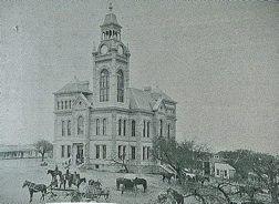 Llano County Courthouse, in the early days