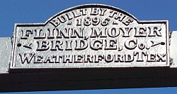 Beveridge Bridge Name Plate-San Saba