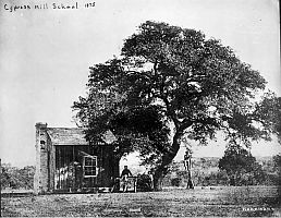 Cypress Mill One Room Schoolhouse c1875